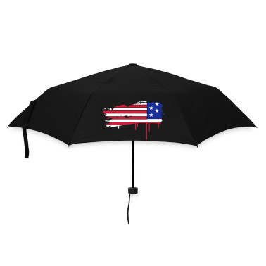 Flag of the United States painted with a brush stroke  Umbrellas