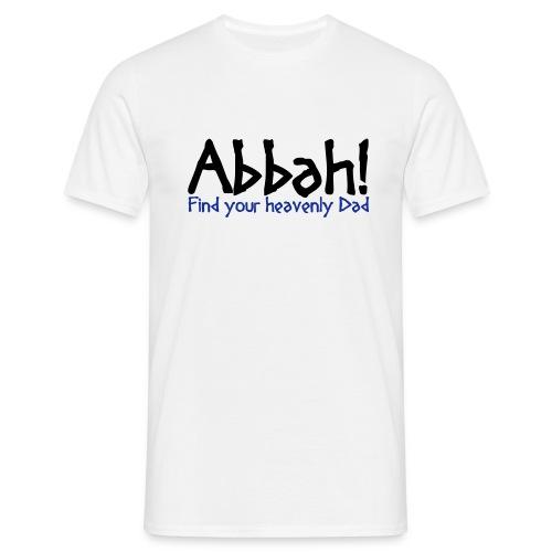 Abbahschriftzug Front - Man T-Shirt - Männer T-Shirt
