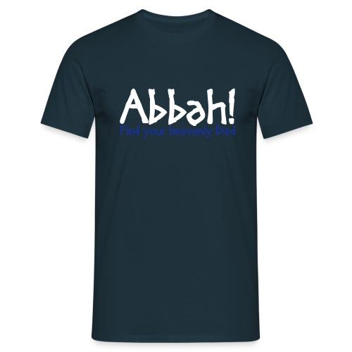 Abbah Schriftzug Front - Man T-Shirt - Männer T-Shirt