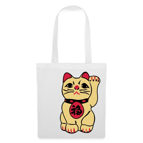 Lucky Chinese Cat Tote Bag - Tote Bag