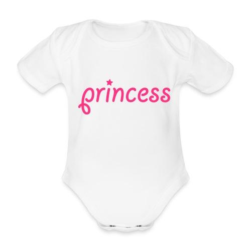 princess - Organic Short-sleeved Baby Bodysuit