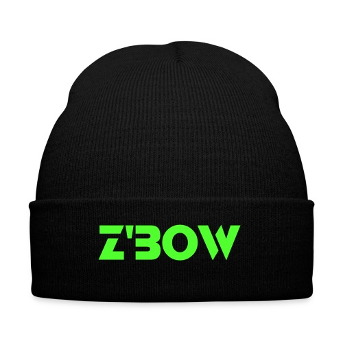 Black Z'bow Beanie - Winter Hat
