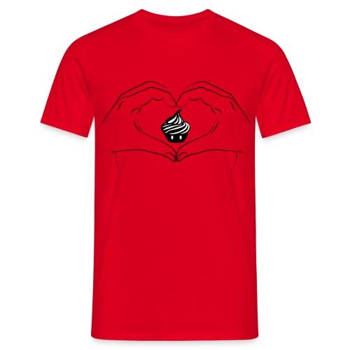 T-shirt I Love Creamart - Heart Hand Homme - T-shirt Homme