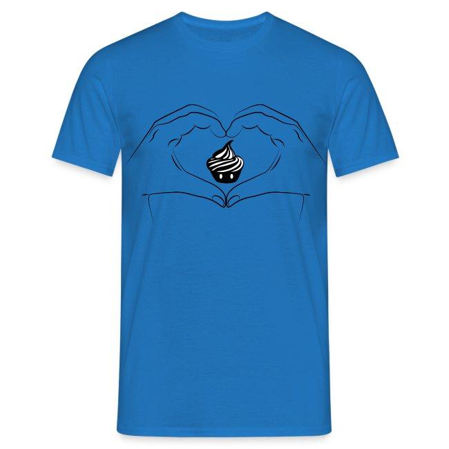 T-shirt I Love Creamart - Heart Hand Homme