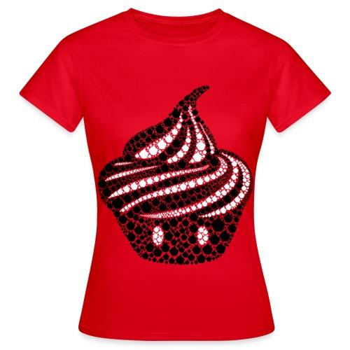 T-shirt Cream particules Femme - T-shirt Femme