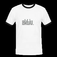 T-Shirts ~ Männer Kontrast-T-Shirt ~ Gay Fun: Aktiv