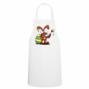 The Easter Bunny is painting an Easter egg - Cooking Apron