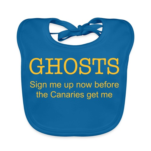 Ghosts supporter bib - Baby Organic Bib