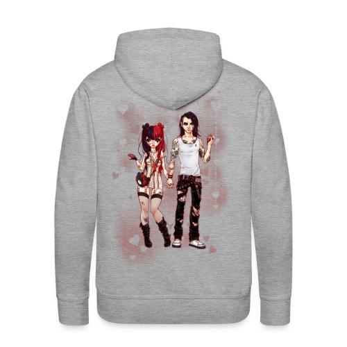 LOVE IS PAIN men's hoodie - Männer Premium Hoodie
