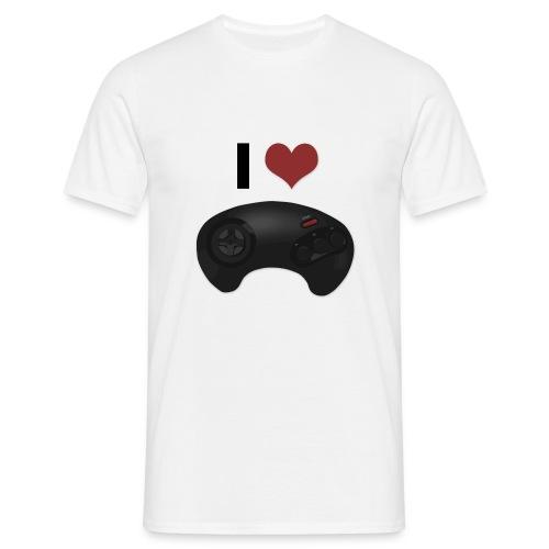 I Love Gamepad - T-shirt herr