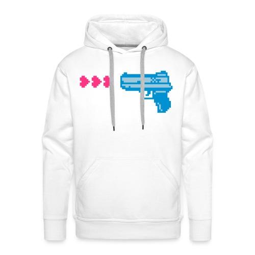 PIXELGUN men's hoodie white - Männer Premium Hoodie