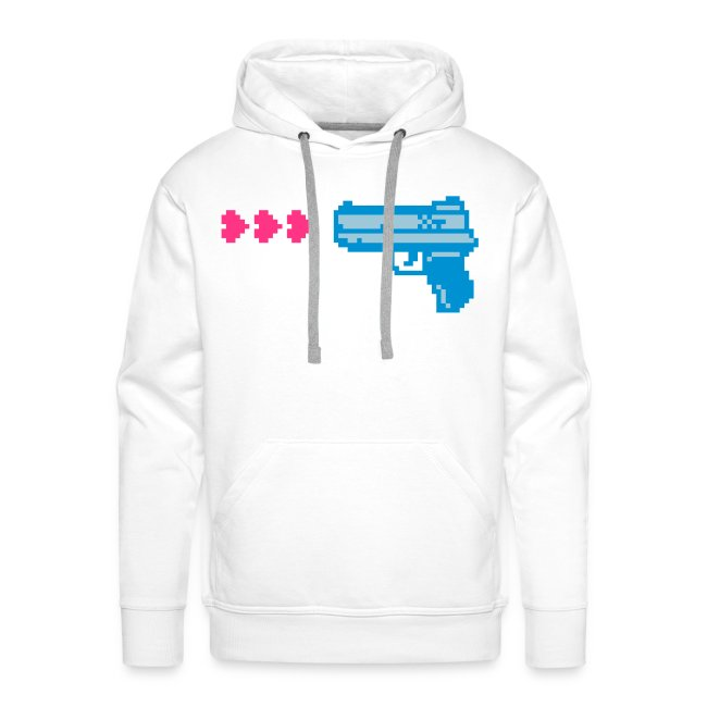 PIXELGUN men's hoodie white
