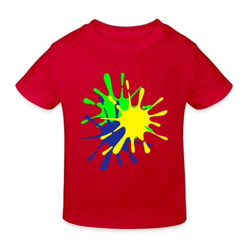 Kids splat paint tee - Kids' Organic T-Shirt