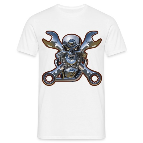 Motorcycle Skull - Men's T-Shirt