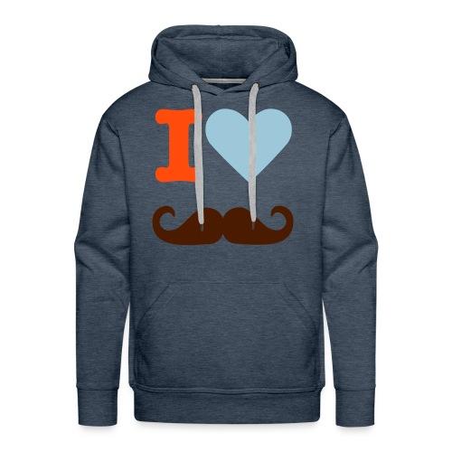 I love moustache Sweat Homme - Sweat-shirt à capuche Premium pour hommes
