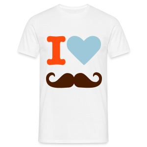 I love moustache Tee Homme - T-shirt Homme