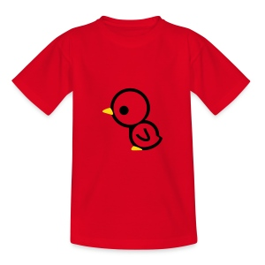 Cute For Kids - Chick (Red/Black & Gold) - Teenage T-shirt