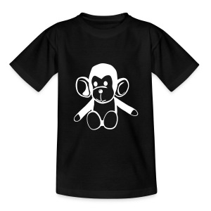 Cute For Kids - Monkey (Black/White) - Teenage T-shirt