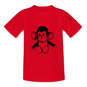 Cute For Kids - Monkey (Red/Black) - Teenage T-shirt