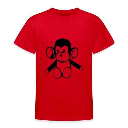 Cute For Kids - Monkey (Red/Black) - Teenage T-Shirt