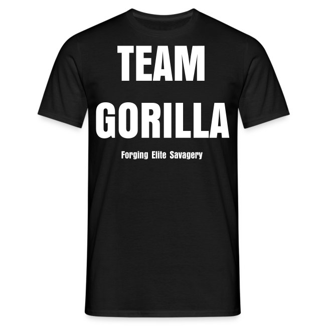 Team Gorilla Mens Black GET STRONGER Tee
