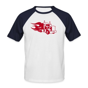 Flaming Truck - Men's Baseball T-Shirt