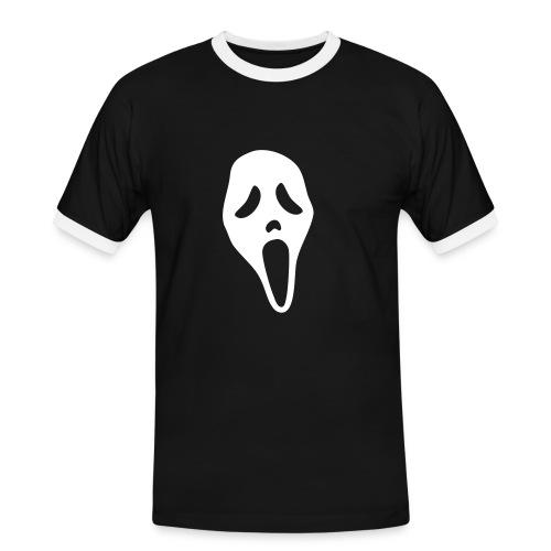 Gespenster Shirt Schrei - Männer Kontrast-T-Shirt