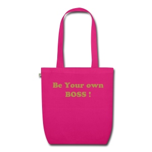 Sac en tissu biologique - Sac Cotton organic Be your own Boss! Marquage Or Métallique