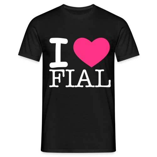 I HEART FIAL - men - Mannen T-shirt