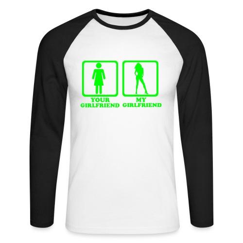 Your gf my gf - Männer Baseballshirt langarm