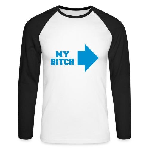 my hoe - Männer Baseballshirt langarm