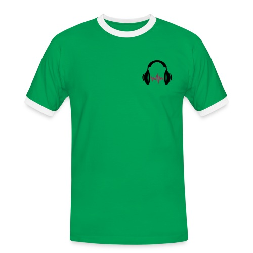 music is life - Männer Kontrast-T-Shirt
