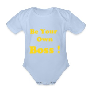 Body bébé bio manches courtes - Habille BB Be your Own Boss !