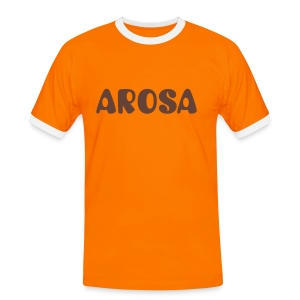 Arosa Orange - Männer Kontrast-T-Shirt