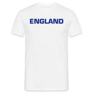England Blue Text - Men's T-Shirt