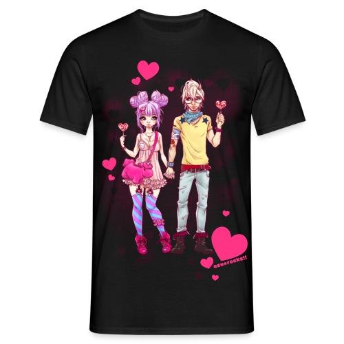 LOVE IS SWEET black men's - Männer T-Shirt