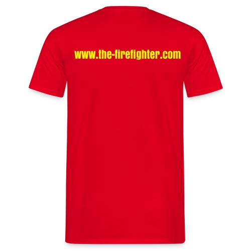 T-Shirt the-firefighter.com rot - Männer T-Shirt