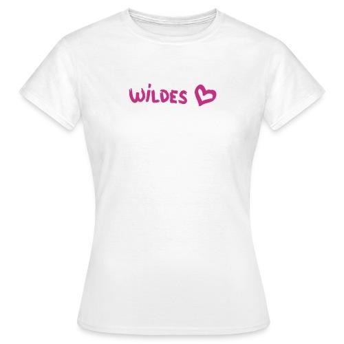 Damen Shirt Herz Liebe  Wild Wildes Herz pink - Frauen T-Shirt