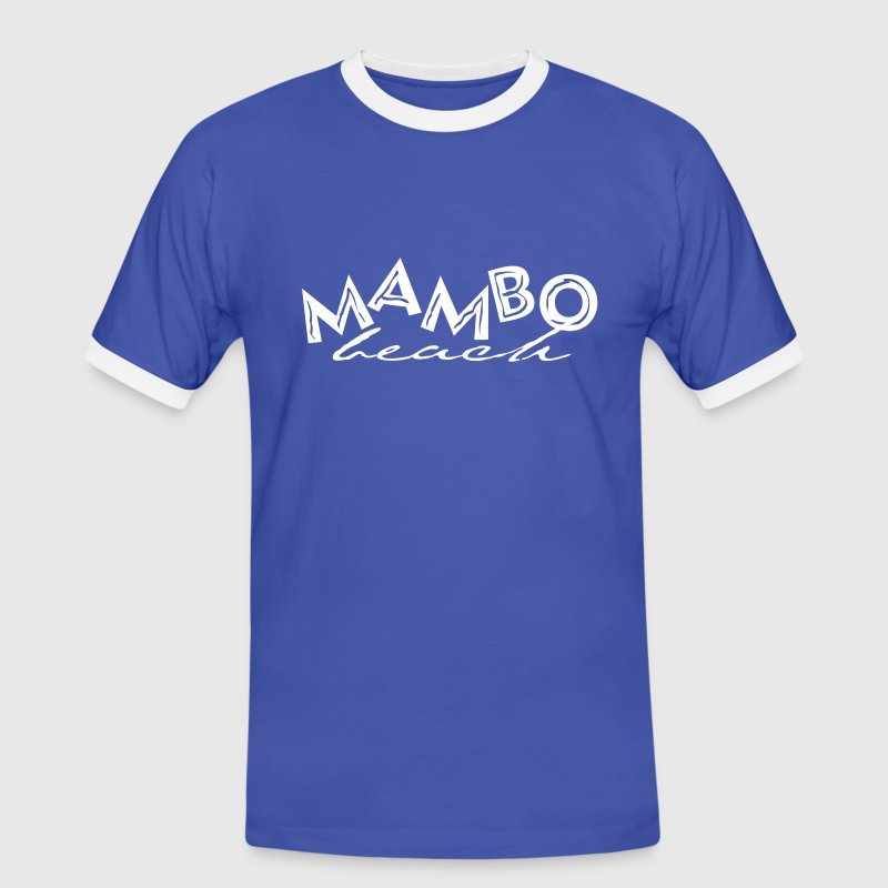 MAMBO BEACH CURACAO - Mannen contrastshirt