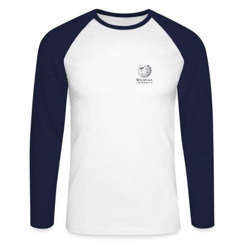 Wikipédia Manches longues - T-shirt baseball manches longues Homme