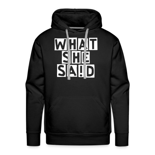Men's Hoodie (Big ! on Back) - Men's Premium Hoodie
