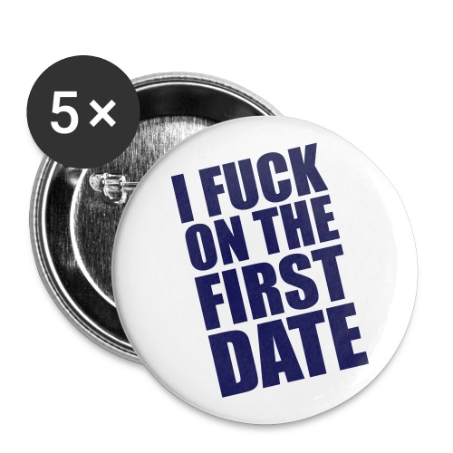First date - Buttons large 2.2''/56 mm(5-pack)