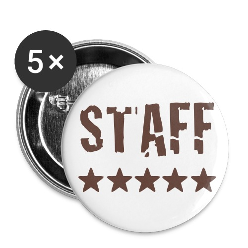 Staff - Buttons large 2.2''/56 mm(5-pack)