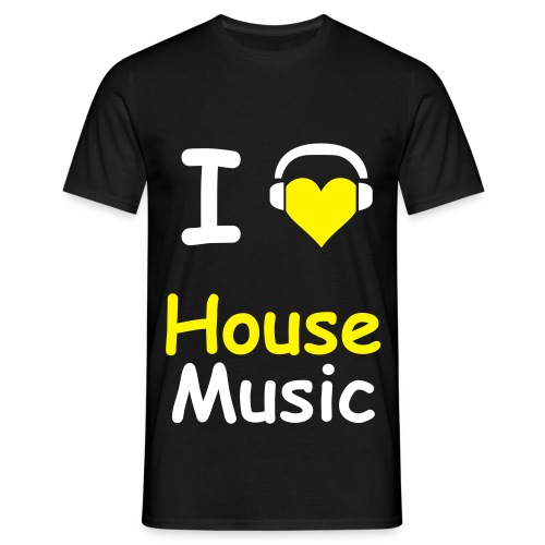 T-Shirt I Love House Music - Männer T-Shirt
