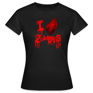 I Love Zombies (chica) - Camiseta mujer