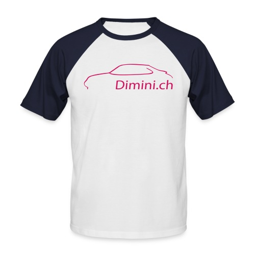 T-shirt bicolore Dimini.ch - T-shirt baseball manches courtes Homme