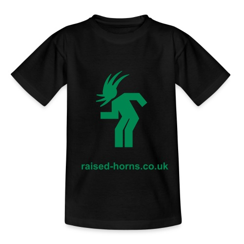 Kids Raised Horns 'headbanging' T Shirt - Teenage T-shirt