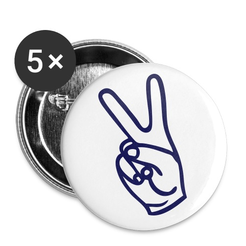 Peace - Buttons large 2.2''/56 mm(5-pack)