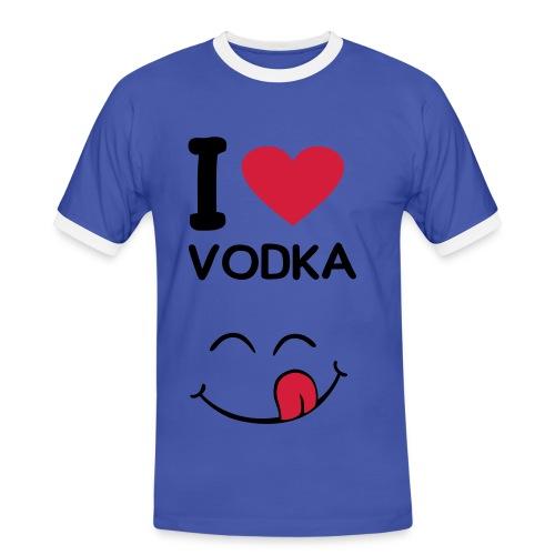 I LOVE VODKA - T-shirt contrasté Homme