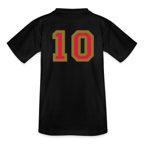 Rückennummer 10 Kinder T-Shirt (Rot/Gold) - Teenager T-Shirt